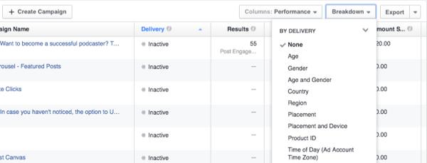 facebook ads customize data
