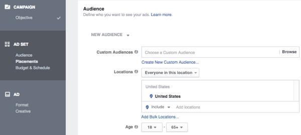 facebook ads targeting