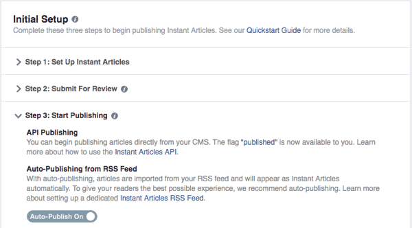 facebook publishing tools instant articles