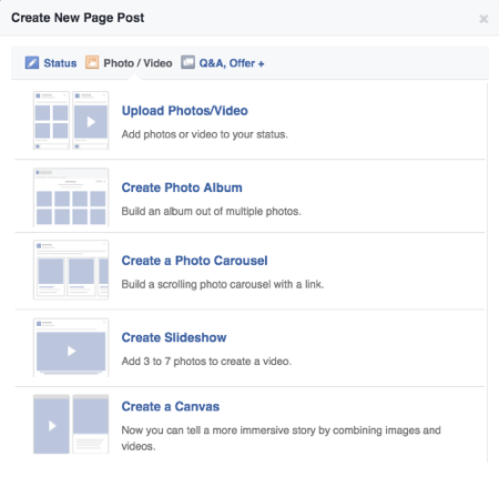 facebook publishing tools posts