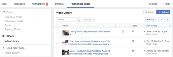 facebook publishing tools video