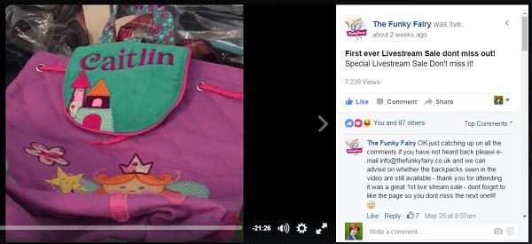 funky fairy facebook live