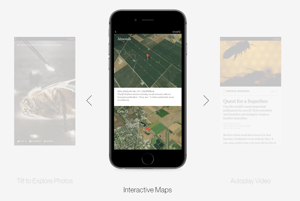 interactive map for instant articles