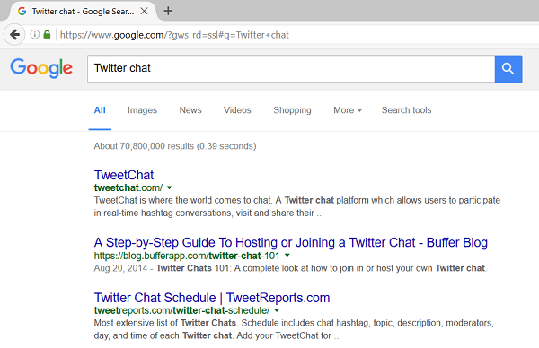 twitter chat search