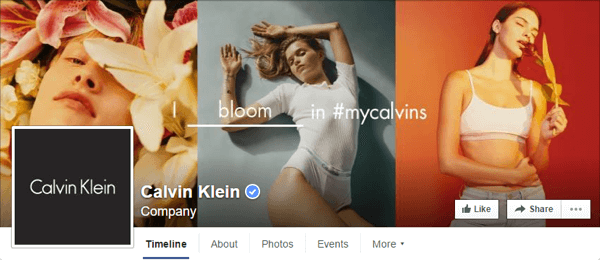 facebook cover photo calvin klein