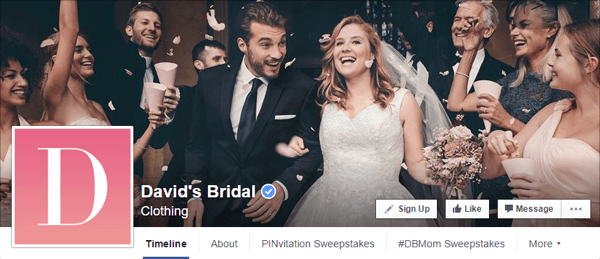 facebook cover photo david's bridal