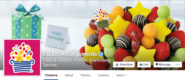 facebook cover image edible arrangements