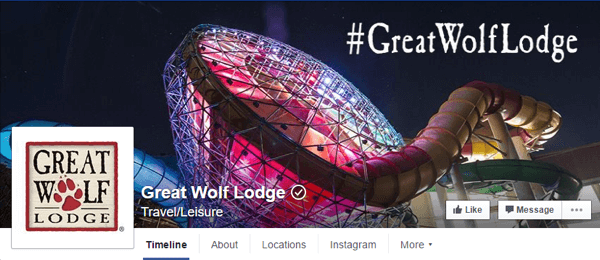 facebook cover photo great wolf lodge
