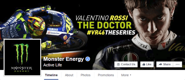 facebook cover photo monster energy