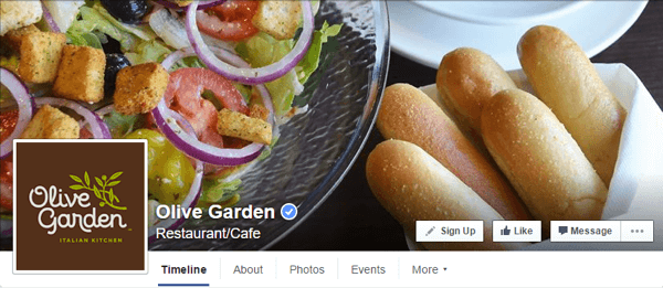 facebook cover photo olive garden