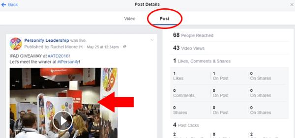facebook live video embed