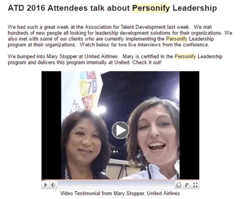 facebook live video in newsletter