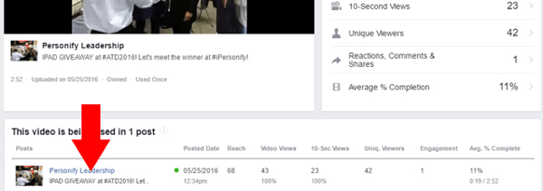 facebook video details