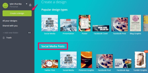 canva create design