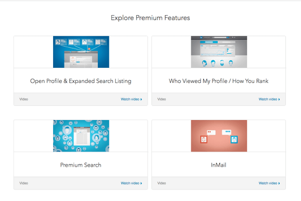 linkedin premium features