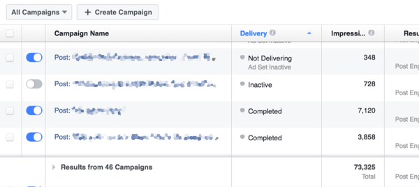 facebook ads impressions