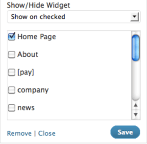 display widget plugin