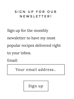 newsletter sign-up plugin