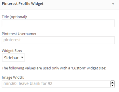pinterest widgets plugin