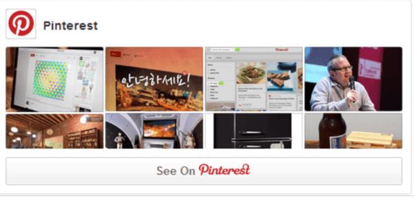 pinterest widgets plugin