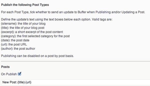 wordpress to buffer plugin