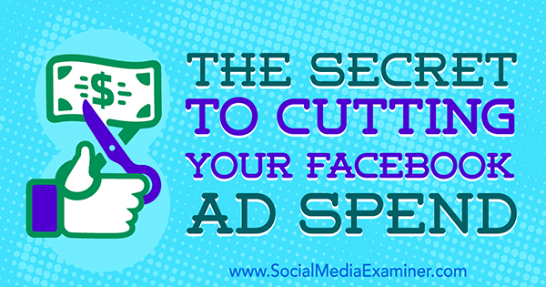 reduce facebook ad campaign costs