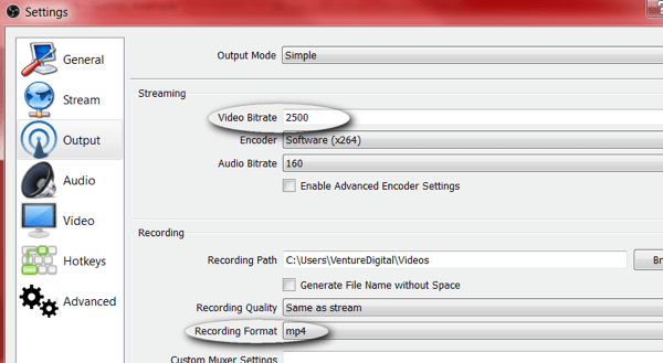 obs studio review settings