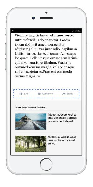 facebook instant article feedback button
