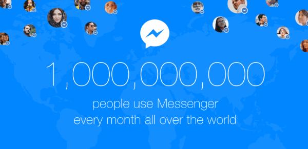 facebook messenger one billion users