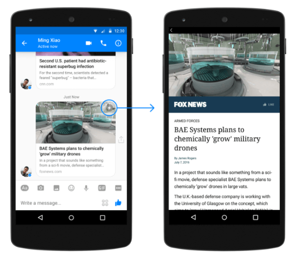 facebook messenger instant articles