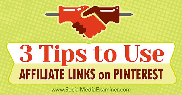 using pinterest with affiliate links