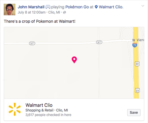 pokemon go social check in