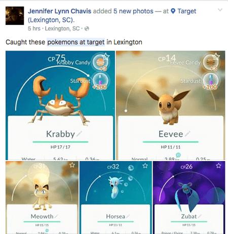 pokemon go user generated content