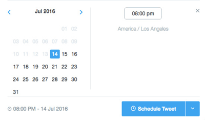 twitter dashboard schedule tweet