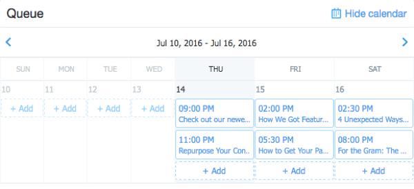 twitter dashboard schedule tweet