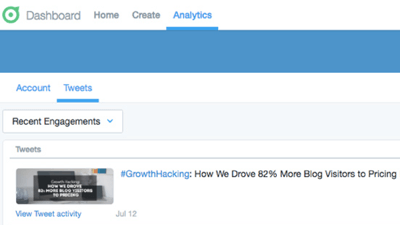 twitter dashboard tweets analytics
