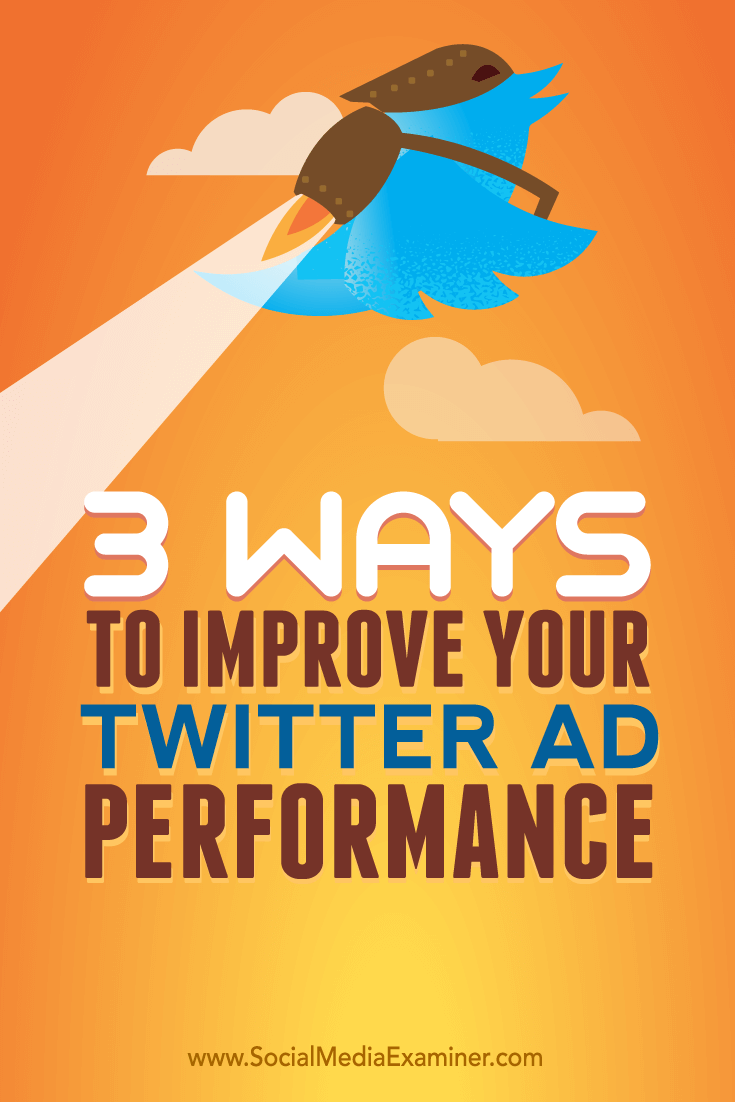 Tips on three ways to improve your ad performance on Twitter.