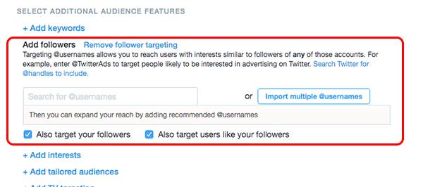 twitter ad target usernames