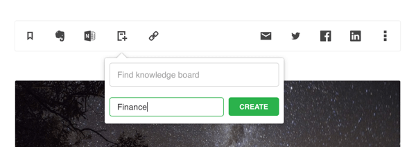 feedly knowledge board