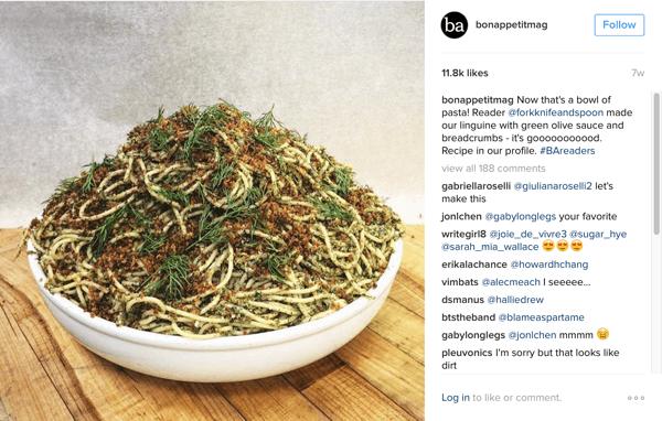 bon appetit instagram