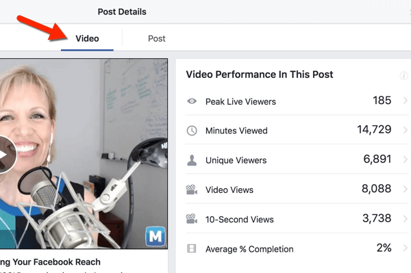 facebook live video views