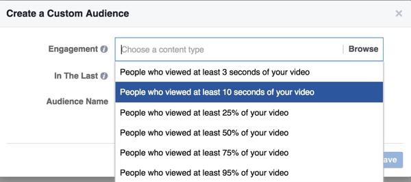 facebook video custom audience