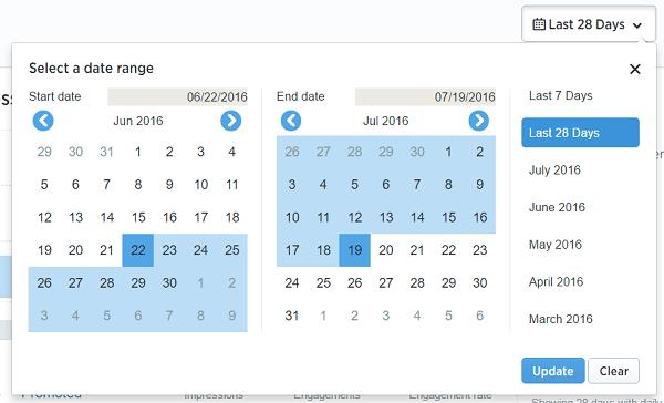 twitter analytics date range