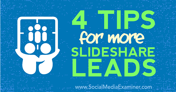 generate leads from slideshare