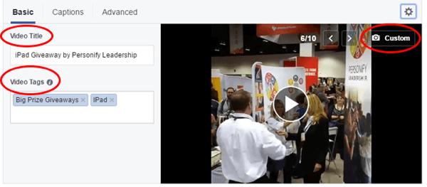 facebook live edit video