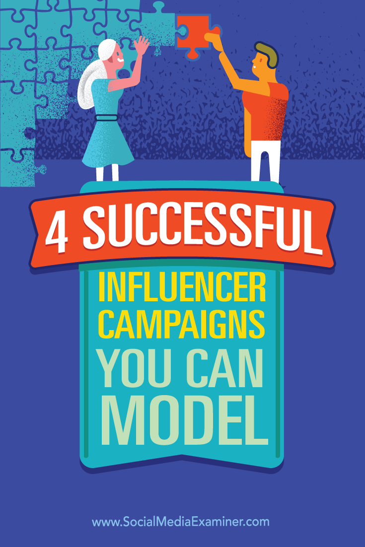 Tips on four influencer campaign examples and how to connect with influencers.