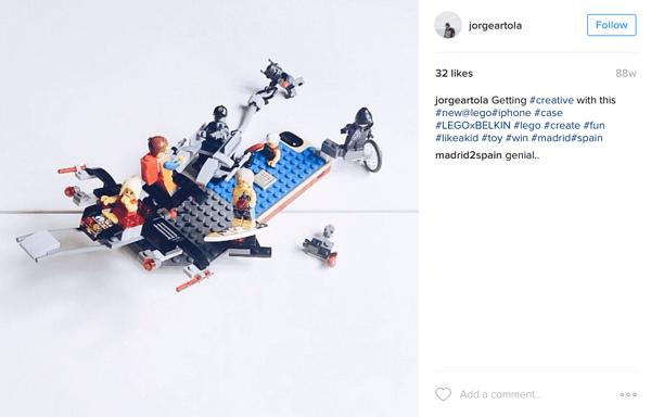 Взаимодействие пользователей с legoxbelkin instagram campaign