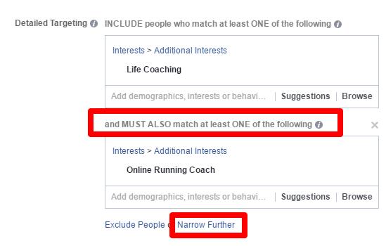 facebook ads narrow audience