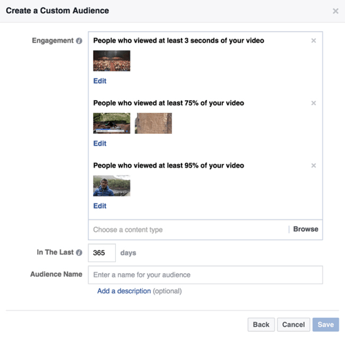 facebook video custom audiences
