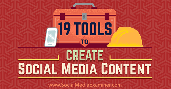 social media content creation tools